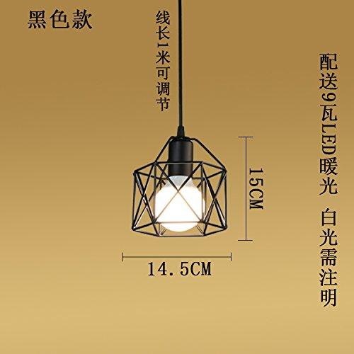 Luckyfree Retro Industrial Art hanglamp kamer bar café restaurant keuken gang lampen plafondlamp kroonluchter, diameter 14,5 cm kleine kandelaar 9 Watt