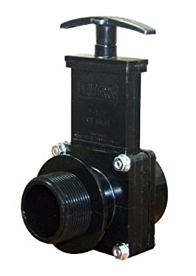 "Valterra 7105 ABS Gate Valve, Black, 1-1/2"" MPT x Slip by Valterra Products"