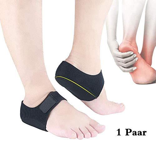 1 Paar Fersensporn Bandage, Silikon Ferse Socken, fersenpolster für Fersensporn Schutz Socken, Fersensocken Heel Wrap Verstellbare Atmungsaktive Plantarfasziitis Wrap Fersenschutz