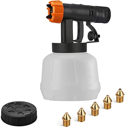 YATTICH Paint Sprayer Accessories for YT-201-A, including 1000ml Container, Front Body (Black), 5 Copper Nozzles, Nozzle Cleaning Needle, Cleaning Brush, Pot Lid, Spanner…