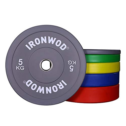 EXTREME FITNESS Ironwod Colour Rubber Bumper Weight Plates Olympic 2' Pairs (10kg Pair)