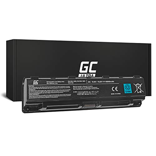 GC® Ultra Serie Laptop Akku für Toshiba Satellite C70D-A-117 C70D-A-119 C70D-A-11C C70D-A-11D (Original Panasonic Zellen 6800mAh 10.8V Schwarz)