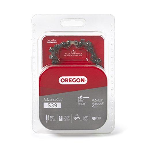 Oregon S39 AdvanceCut 10-Inch Semi Chisel Chainsaw Chain Fits Echo, Poulan, McCulloch , Grey