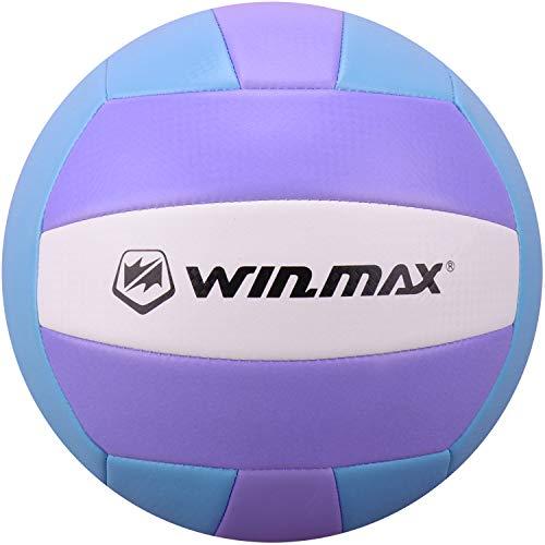WIN.MAX Volleyball - Balón de Voleibol de Playa, Talla 5 (Azul/Morado)