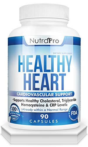 Healthy Heart - Heart Health Supplements. Artery Cleanse & Protect. Supports Cholesterol and Triglyceride Balancing. GMP Certified