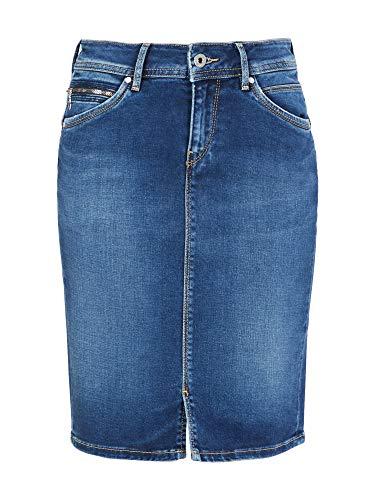 Pepe Jeans Taylor PL900443 Falda  Azul (Dark Tru BLU Ce3)  X-Small para Mujer
