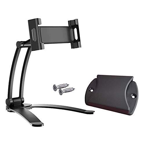P Prettyia 2-in-1 Kitchen Tablet Stand Wall Mount Adjustable under Cabinet Holder Desktop Mount for Tablets and Mobile Phones. - Black S