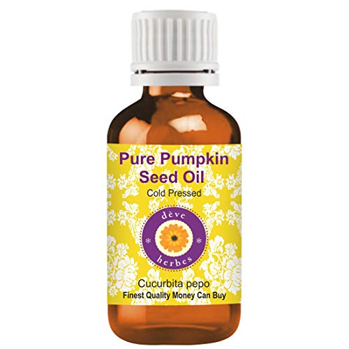 Pure Pumpkin Seed Oil (Cucurbita pepo) 100% Natural Cold Pressed & Therapeutic Grade by Deve Herbes - 15 ml