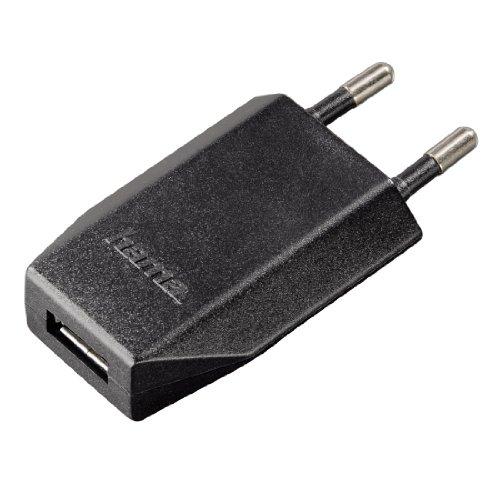 Hama Piccolino II USB-Ladegerät (Universal Netzteil, 1000 mA, 100-240V EU-Stecker weltweit einsetzbar, geeignet für Smartphones, Tablets, eBook Reader, MP3-Player und Navigationssysteme) schwarz