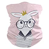 Headband Easter Rabbit Bunny Animal Face UV Sun Protection Mask Neck Gaiter Magic Scarf Bandana Headwear Balaclava for Women Men