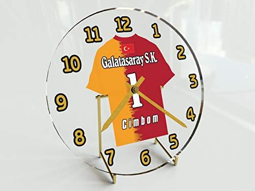 Wanduhr mit Fußball-Motiv, UCL European Club Football Teams, personalisierbar Galatasaray FC Football Team