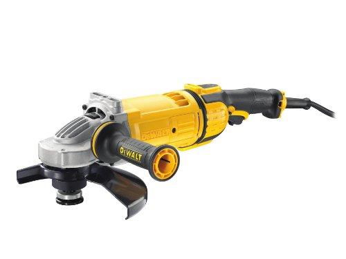 Dewalt DWE4599-QS DWE4599-QS-Amoladora 230mm 2.600W 6.500 RPM Embrague Mecánico. Equilibrado Auto Suave. Bloqueo y re-Arranque, 2600 W, 230 V
