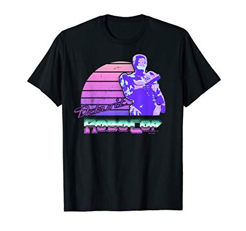 RoboCop Detroit Retro 80s Sunset and Logo T-shirt, S to 3XL