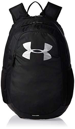 Under Armour UA Scrimmage 2.0 Backpack, Laptop Backpack, Waterproof Bag Unisex, black (Black/Black/Silver(001)), one size