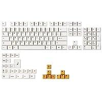 136キーホワイトオレンジキーキャップセットOEMプロファイルPBTキーキャップ64用68/84/96/87/104キーメカニカルキーボード
