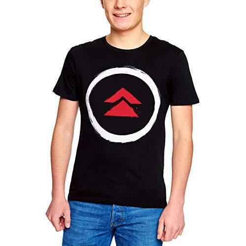 Elbenwald Camiseta de Hombre Game Logo para Fans de Ghost of Tsushima algodón Negro - XL