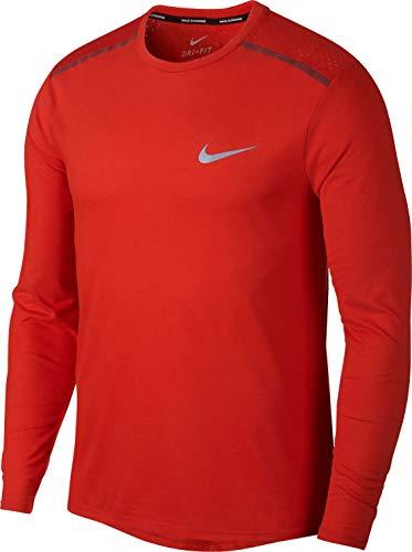 Nike Men's Breathe Rise 365 Running Top Camiseta de Running, Hombre, Rojo,...