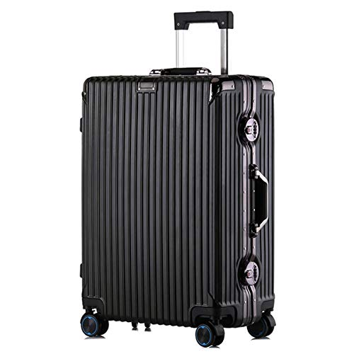 XIANGSHAN PC Convenient Trolley Case, Stylish and Durable Super Storage Luggage Bag,Wheels Travel Rolling Boarding,20' 22' 24' 26' (Color : Burgundy, Size : 22inch)