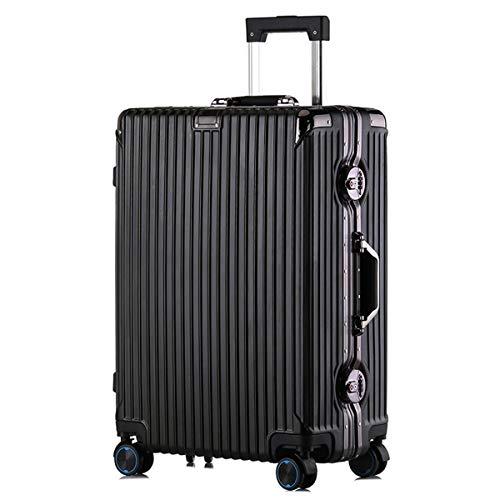 XIANGSHAN Estuche de Trolley for PC, Bolsa de Equipaje de súper Almacenamiento Elegante y Duradera, Ruedas de Viaje, 20'22' 24'26' (Color : Black, Size : 26inch)