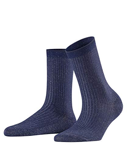 FALKE Damen Socken Shiny Rib - Baumwollmischung, 1 Paar, Blau (Royal Blue 6000), Größe: 35-38