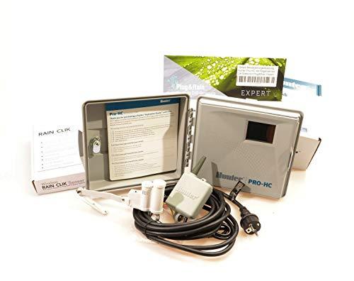 Plug&Rain Smart-Bewässerungsteuerung, Hunter Pro-HC 24 Stationen mit Funk-Regensensor Expert