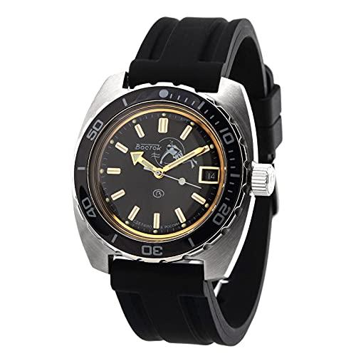 Vostok 2416/170805 Military Diver - Reloj de buceo (200 m, mecánico, ruso, 20 atm)