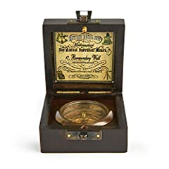 Super7One Handmade Antique Vintage Brass Compass in Rosewood Box   Exquisite Nautical Compass for Home Decor   Pocket Compass Gift for Every Occasion (Vintage Black) #1