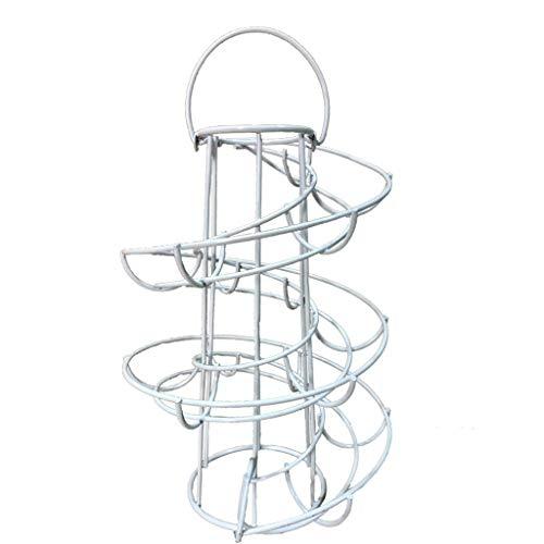 jieGorge Egg Skelter Deluxe Spiraling Dispenser Rack Basket Storage Space Up to 24, Kitchen,Dining & Bar , for Christmas Day (WH)