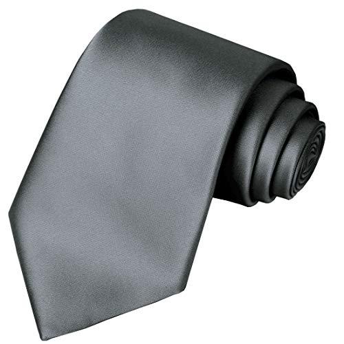 Men Kids Solid Metal Grey Silk Cravat Woven Tie Textile Plaid Business Casual Neckties