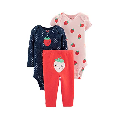 Carter's Baby Girls' 3-Piece Strawberry Little Character Set- Pink (6 Months)