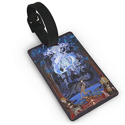 Etiqueta de equipaje Magic Stone Ha_Rry Wizard, ficción Anime ID Tags Card, etiquetas de viaje para maleta, cajuela privacidad moda cubierta nombre etiquetas 3.7 x 2.2 pulgadas