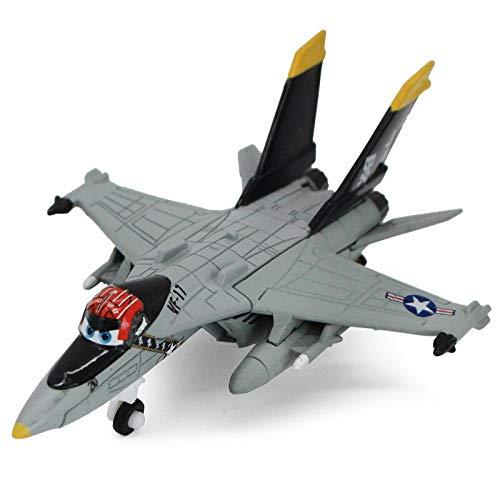 Disney Disney Pixar Cars 2 Planes Shipboard Aircraft Echo Metal Diecast Alloy Toy Plane Model for Children 1:55 Loose in Stock Black