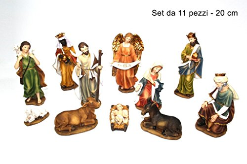 DUE ESSE CHRISTMAS SRL SET 11 PZ NATIVITA' PERSONAGGI PRESEPE PRESEPIO 20 CM