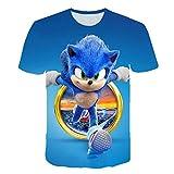 LYLXS Sonic Enfant Garçon Fille T-Shirt Top à Manches Courtes Fantaisie Imprimé 3D Eté (1,100)