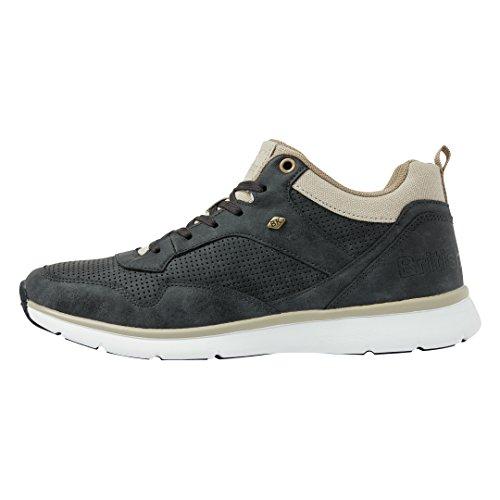 British Knights Unisex-Erwachsene Steel MID Hohe Sneaker, Schwarz (Black/Beige 1), 44 EU