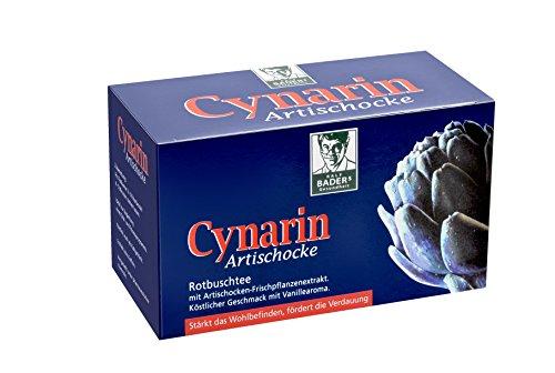 BADERs Cynarin Artischocke Rotbuschtee aus der Apotheke. Tee mit Artischockenextrakt. Köstlicher Geschmack nach Vanille. 20 Filterbeutel