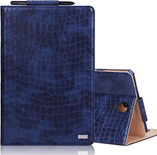 FYY Case for Samsung Galaxy Tab S4 10.5 2018, Premium Leather Protective Smart Galaxy Tab S4 Cover with Auto Wake/Sleep Kickstand Function and Pencil Holder for Galaxy Tab S4 10.5' (DodgerBlue)