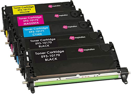 5 (1 SET + 1 BLACK) Compatible Laser Toner Cartridges for Dell 3110, 3110cn, 3115, 3115cn | 8,000 Pages