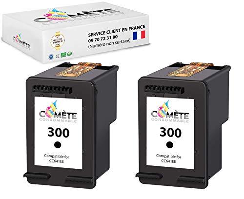 Comète France - Juego de 2 cartuchos de tinta para DeskJet D2660, D5560, F2480, F4280 F4580 Envy 110 114 120 PhotoSmart C4680 C4780 C4670 C4600 C4700 (2 unidades), color negro