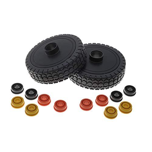 Jardiaffaires - Lote de 2 ruedas de cortacésped universales...