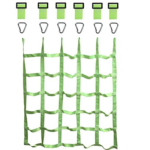 Gentle Booms Sports Climbing Cargo Net Indoor/Outdoor Ribbon Net,Children Kids Daily Sports Outdoor Backyard & Playground Equipment for Ninja Line,Ninja Warrior Style Obstacle Courses