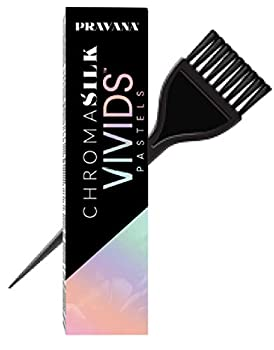 Pravana ChromaSilk VIVIDS PASTELS Hair Color Shades with Silk & Keratin Amino Acids Dye  with Sleek Brush  Haircolor Pastel  Luscious Lavender