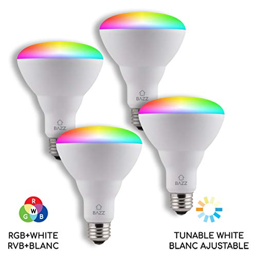 BAZZ Smart Home Wi-Fi RGB 10W LED BR30 Bulb (4-Pack)