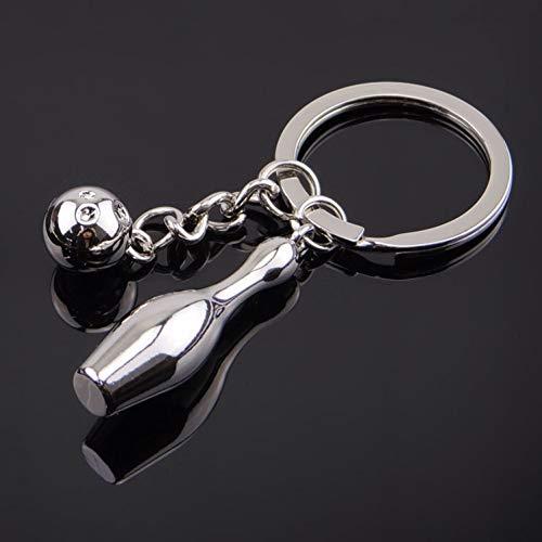 ZXCVB Metall Schlüsselbund Sport Schlüsselbund-Bowling Schlüsselring Schlüsselbund Schlüsselbund Schlüsselbund Souvenir Schlüssel Auto Geschenk für Männer und Frauen