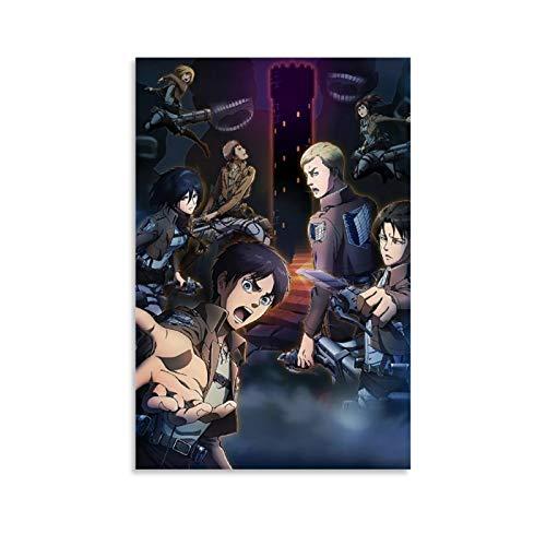Ataque al Titan-,Wings-of-Liberty-Cartoons-Anime-(33) Arte de pared inspirador moderno para decoración de pared de 30 x 45 cm para marco o desenmarcar