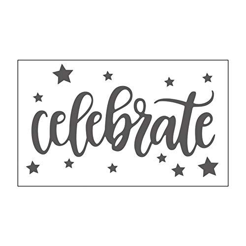 Vaessen Creative Mini Taschina per Embossing, Celebrate, per Aggiungere Texture e Dimensione a Pagine di Scrapbooking, Biglietti e Altri Progetti Creativi con la Carta, Transparent, 7,6 x 12,7 cm