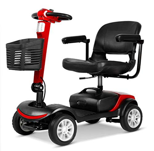 Scooter Electrico Para Minusvalidos 4 Ruedas,moto Electrica Plegable Ligera Para Personas Mayores...