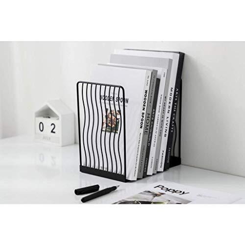 FHKBK Extremos de Libro Sujetalibros de Rejilla, Extremos de Libro Decorativos, Decoración de Libro de Almacenamiento, Sujetalibros Ajustable, Estudio Adecuado, Oficina, Sujetalibros de