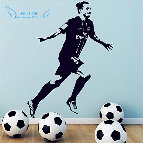 jiushizq Poster Fußball Vinyl Wandaufkleber Wohnkultur Tapete - Jungen Schlafzimmer Wandbild Kunst Dekoration 3D D Grau...