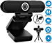 Webcam with Microphone, YQE Web Camera Full HD 1080P Webcam with Cover Tripod, Laptop PC Desktop Computer Camera Windows Mac OS for Video Calling Streaming Gaming Zoom YouTube Skype Hangouts Facetime (Renewed)